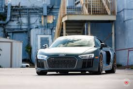 Audi R8 Hybrid - gallery 2017 audi r8 v10 plus on vossen gold forged wheels