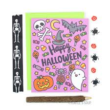 happy halloween note card halloween pattern cute halloween