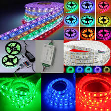 Led Strip Lights For Car Interior by 5 Meter Finest Multicolor Rgb Waterproof Led Strip With Remote And