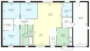 plan maison plain pied 3 chambres en l plan maison plain pied 100m2 plans de maisons individuelles avec 3