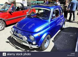 old fiat 500 abarth racing equipped photographed vintage car rally