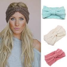 crochet headband new women s knit headband crochet winter warmer hairband hair