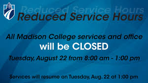 student service hours reduced for convocation madison college