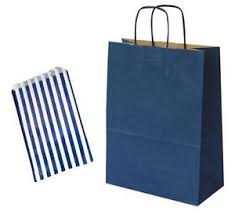 blue gift bags navy blue birthday party paper gift bags with matching candy