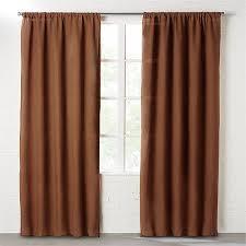 Lined Linen Drapery Panels Dark Copper Linen Curtain Panel Cb2