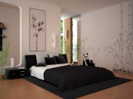 bedroom modern chinese bedroom decoration ideas with black low bed