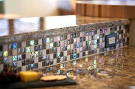 Best Material For Kitchen Backsplash Tile Impressive Iridescent Tile For Awesome Kitchen Backsplash