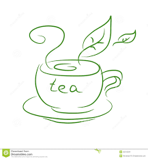 sketch of a cup of tea stock images image 35315504