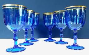 bicchieri boemia set di 6 bicchieri in cristallo molato con finiture in oro