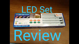 led light bar under cabinet review set of 4 led light bar under cabinet led strip led youtube