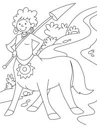 centaur is the creature from greek mythology coloring pages