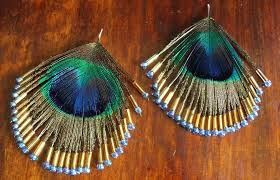 how to make feather earrings with diy peacock feather earrings