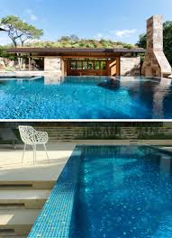 home pool this poolhouse in texas is covered with a lush green roof