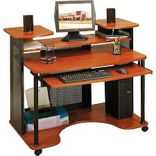 Computer Desk Workstation Sauder Saturn Multi Level Computer Workstation Black And Cherry