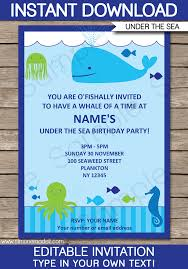 the sea party the sea party invitations birthday party