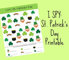 st patrick u0027s day i spy printable for kids time snippets
