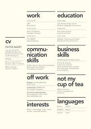 Best Layout For A Resume by 17 Best Clean Resumes Images On Pinterest Resume Layout Resume