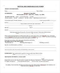 dental records release form dental records release form medical