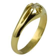 vintage ring vintage gypsy setting old gold mens sale