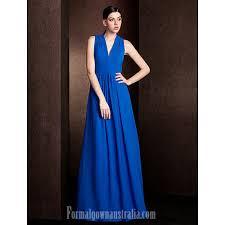 long floor length chiffon bridesmaid dress royal blue plus sizes