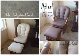 my fabulous married life reupholstered glider