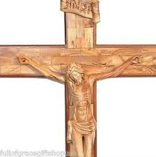 wooden crucifix olive wood crucifix 6 large carved wooden crucifix