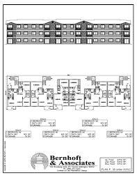 4 Plex Apartment Plans Bernhoft U0026 Associates