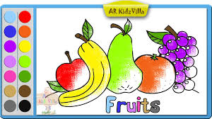 learn colors for kids and color fruits coloring page pt 33 youtube