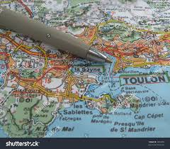 South Of France Map by Map South East France Coast Near Stock Photo 3834859 Shutterstock
