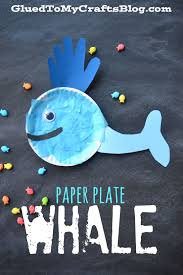 paper plate whale kid craft glued to my crafts