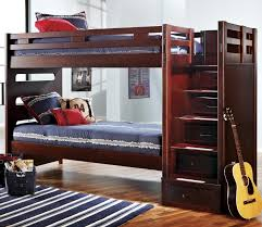 canyon ivy league twin twin bunk bed with step storage unit