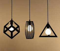 Retro Hanging Light Fixtures Vintage Retro Pendant Lights L Metal Cube Cage Lshade