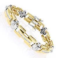 white gold yellow gold bracelet images Yellow gold diamond men 39 s bracelet 1 95ct jpg