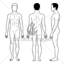 fashion man outlined linear template full length figure s gl