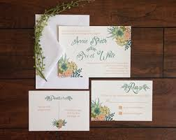 design your own wedding invitations succulent wedding invitations kawaiitheo