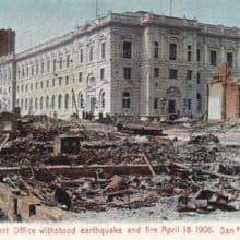 Barnes And Noble Postcards 1906 Great San Francisco Earthquake Post Office Postcards Mail