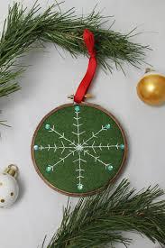 free diy embroidered snowflake ornament pattern snowflake