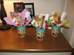 minion party favors despicable me minion party favor cups i put together for brayden s