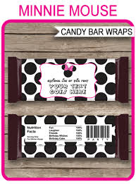 minnie mouse hershey candy bar wrappers personalized candy bars