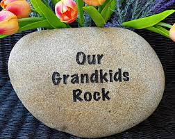engraved family rock etsy