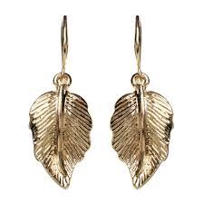drop earring curved leaf drop earring shop amrita singh jewelry