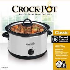 3 Crock Pot Buffet Recipes by Crock Pot 5 Qt Manual Slow Cooker Walmart Com