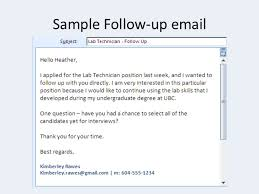 Sending Resume By Email Sample by Follow Up Email After Resumefollow Up Email After Application
