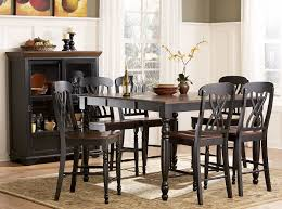 homelegance ohana counter height dining set black d1393bk 36