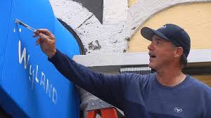 painting canvas awnings wyland grand opening day 2 awning painting youtube