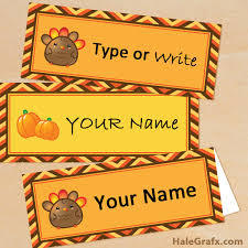 printable name place cards printable thanksgiving place cards