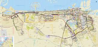 Bus Map Map Of Dubaï Bus Stations U0026 Lines