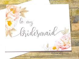 thank you bridesmaid cards bridesmaid thank you card to my bridesmaid wedding