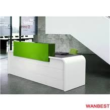 Small Hair Salon Modern White Modern Solid Surface Artificial Stone White Curved Small Portable