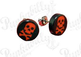 black ear studs style earrings and ear studs